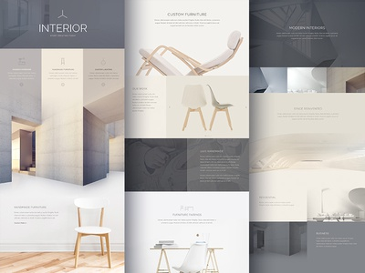 Gutterless Layout Exploration wordpress gutterless fullwidth landing page furniture website