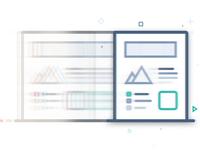 Page Duplication clone duplicate layout line illustration