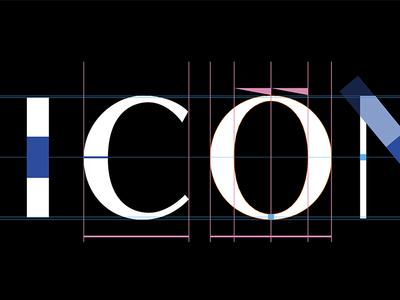 THE ICONIC · Logotype logo typeface