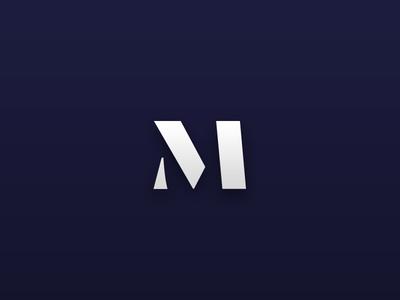 M branding stencil symbol logomark