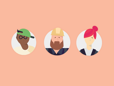 Airtasker profiles illutrations