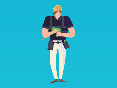 Handyman characters illustration airtasker