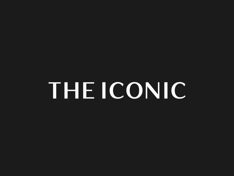 THE ICONIC · Branding fashion custom type logotype branding