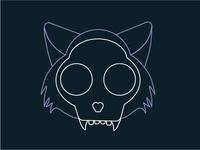 Monoline Cat Skull