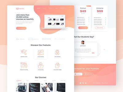 E-Learning Platform Landing Page