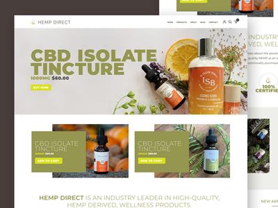 Hemp Direct Redesign brand development website design