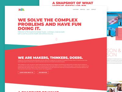 The Experience Design Studio website design