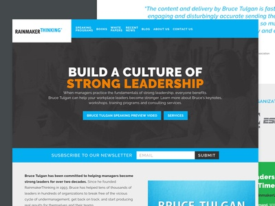 RainMakerThinking brand development website design