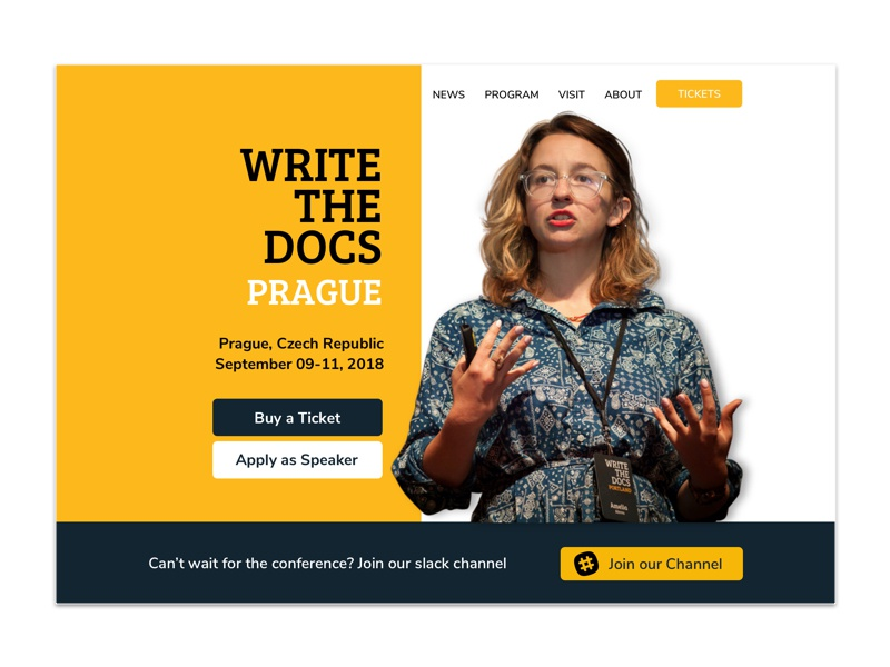 Write The Docs Conference Concept social media cards keynote speakers conference