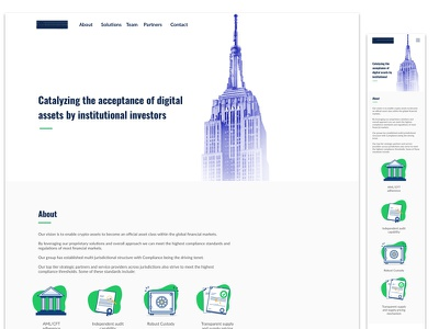 Color & Mobile Layout institucional cryptocurrencies digital assets fintech