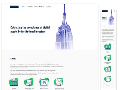 Color & Mobile Layout institucional cryptocurrencies digital assets fintech