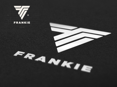 Logo Design for Frankie branding brand identity design brand identity designer brand identity custom logo design frankie puma brand mark logo design monogram snowboard surf  snowboard clothing brand fashion logo
