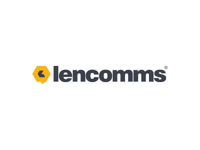 Lencomms logo design geometric brand identity symbol custom logo design icon designer symbol designer branding identity identity designer brandmark mark logo designer logo design logo