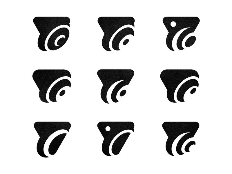 Logo Design Process Iteration
