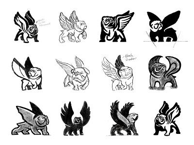 Flying Bulldogs wings bulldog branding animal symbol designer identity identity designer mark brandmark logo designer logo design logo