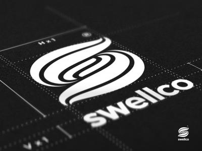 Swellco - Logo Design swellco logo design brand mark typography commercial real estate brokerage retail buildings agility lasting impression