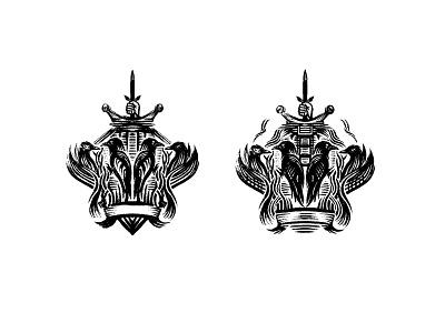 Work in Progress - Coat of Arms procreate sketch custom logo design ravens coat of arms identity branding symbol designer illustration mark identity designer brandmark logo designer logo design logo