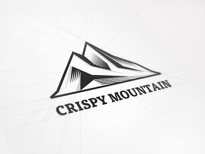 New Logo Design for Crispy Mountain crispy mountain logo beeldmerk mark brand identity symbol icon mountain polygons