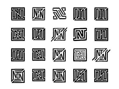 NT Ambigram Sketches process sketches monogram design monogram custom logo design typography symbol designer branding identity identity designer brandmark mark logo designer logo design logo