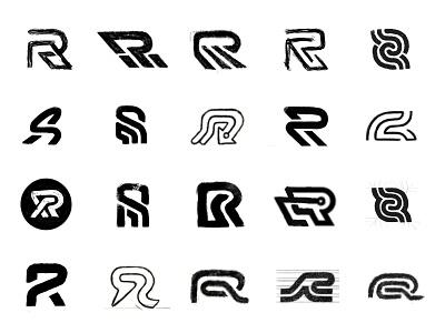 R sketches monogram sketches proces custom logo design typography symbol designer branding identity identity designer brandmark mark logo designer logo design logo