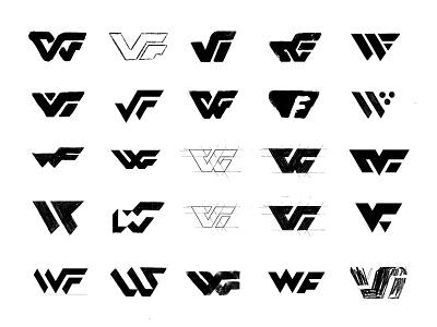 WF sketches lettermark process sketches monogram custom logo design typography symbol designer branding identity identity designer brandmark mark logo designer logo design logo