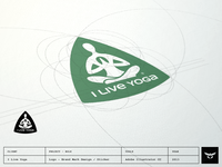 I Live Yoga - Logo on Sticker Design
