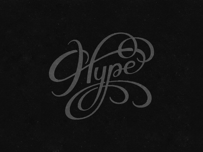 Hype hype lettering hand-lettering logotype typically