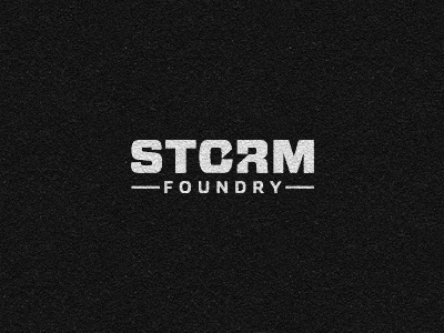 Storm Foundry Logo storm foundry video production logotype negative space foundry award winning logo design logo designer