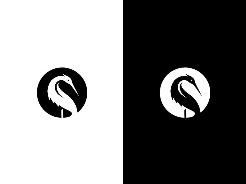 Heron (4) sketch process work in progress heron animal custom logo design symbol designer branding identity identity designer brandmark mark logo designer logo design logo