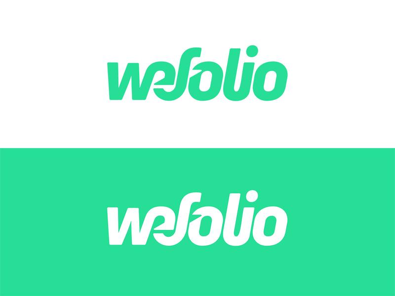 WeFolio - custom wordmark wordmark custom wordmark lettering typography custom logo design symbol designer branding identity identity designer brandmark mark logo designer logo design logo
