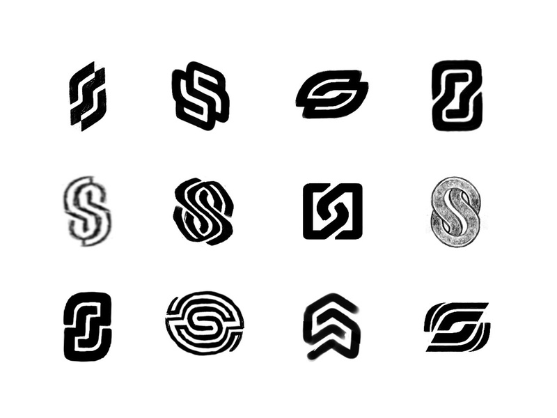 sketches - S marks process sketches lettering typography monogram custom logo design symbol designer branding identity identity designer brandmark mark logo designer logo design logo