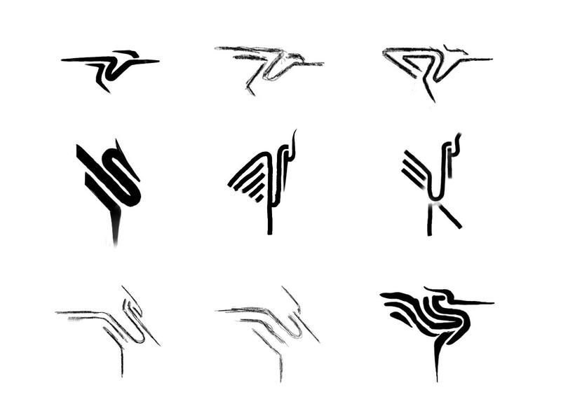 Heron sketches 4 process sketch sketches heron animal custom logo design symbol designer branding identity identity designer brandmark mark logo designer logo design logo