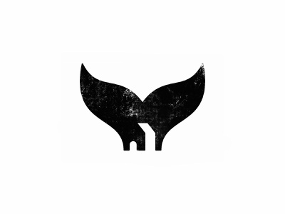 Whale House 2 black  white symbol negative space logo negative space house whale custom logo design identity branding symbol designer animal identity designer mark brandmark logo designer logo design logo