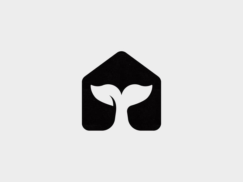 Whale House 3 negative space house whale animal custom logo design symbol designer branding identity identity designer mark brandmark logo designer logo design logo