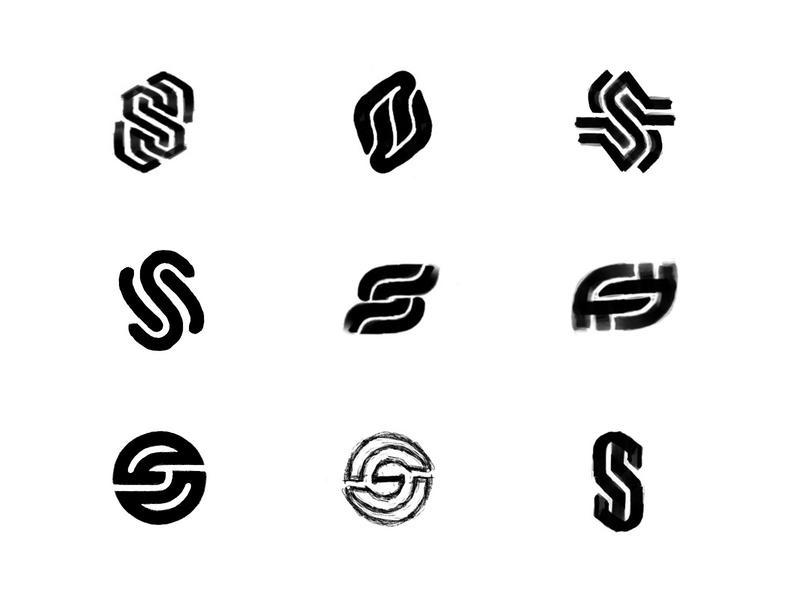 S sketches (3) process sketches monogram lettering typography custom logo design symbol designer branding identity identity designer mark brandmark logo designer logo design logo