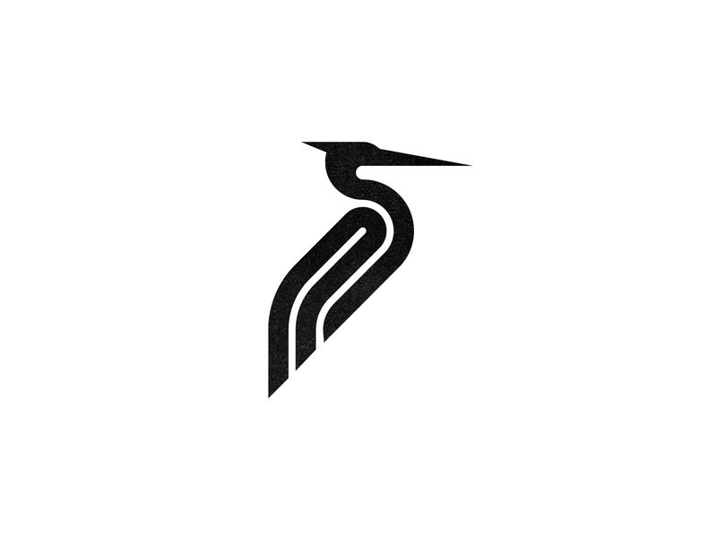 Heron heron animal custom logo design symbol designer branding identity identity designer mark brandmark logo designer logo design logo