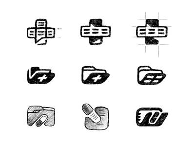 Medical Information Platform cresk brand identity medical medical logo process sketches custom logo design branding identity identity designer mark brandmark logo designer logo design logo