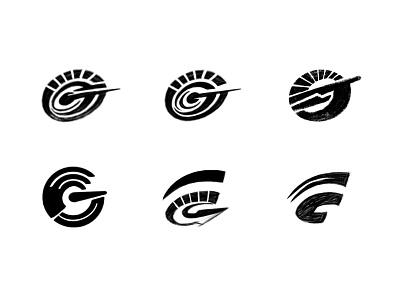 Speedy G-sketches process sketches speed monogram custom logo design symbol designer branding identity identity designer mark brandmark logo designer logo design logo