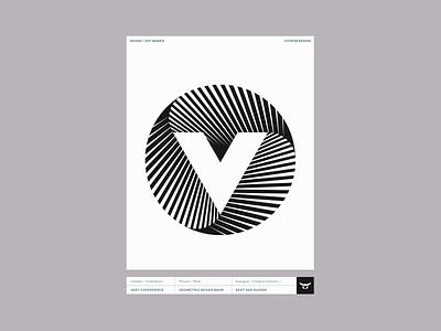 V mark geometric circle monogram custom logo design symbol designer branding identity identity designer mark brandmark logo designer logo design logo