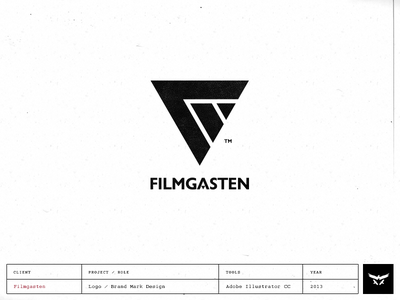 Filmgasten - Logo / Brand Mark logo design brand mark filmgasten cinematic logo film video