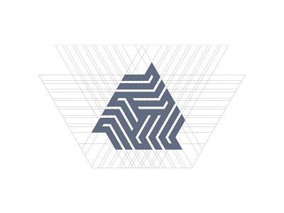 Triangle grid guidelines grid triangle symbol mark custom logo design symbol designer branding identity identity designer brandmark logo designer logo design logo