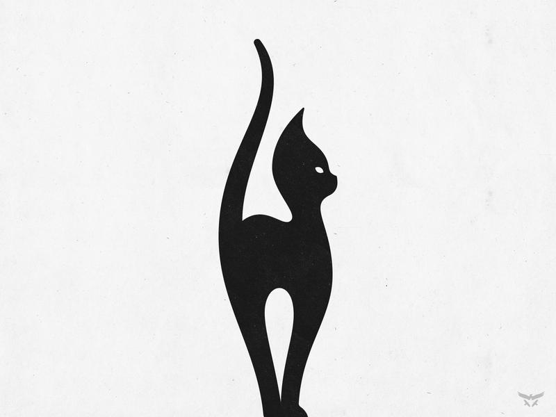 pussycat custom logo design brandmark logo design illustration logo