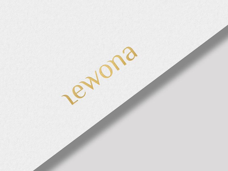Wordmark Lewona print custom typography lettering typography custom logo design branding identity identity designer mark brandmark logo designer logo design logo