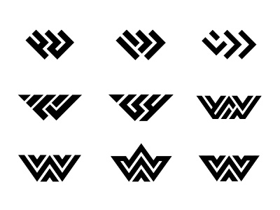 W marks monoline monogram typography custom logo design symbol designer branding identity identity designer mark brandmark logo designer logo design logo