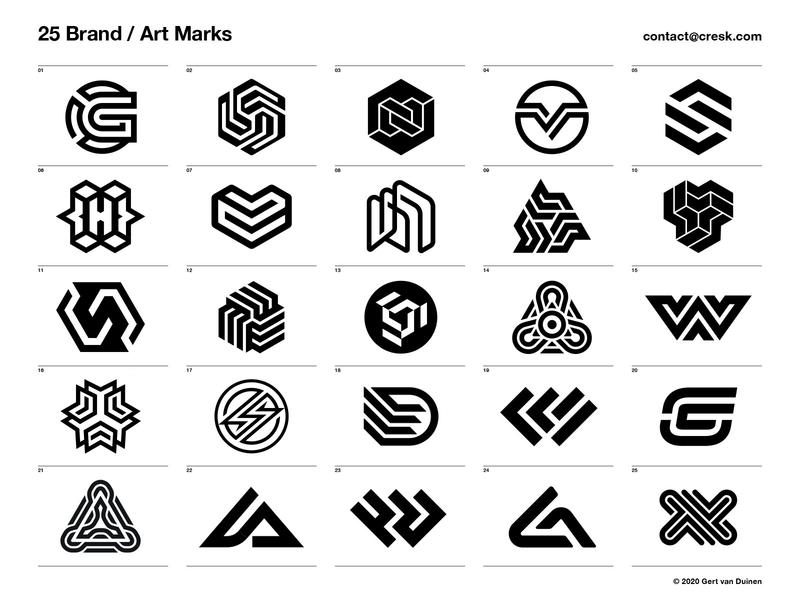 25 Brand / Art Marks brand identity custom logo design symbol designer branding identity identity designer mark brandmark logo designer logo design logo
