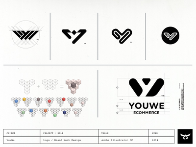 Youwe's logo conceptional process in a nutshell