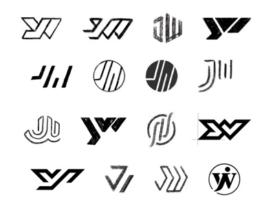 JW Sketches process sketches lettering monogram typography custom logo design symbol designer branding identity identity designer mark brandmark logo designer logo design logo