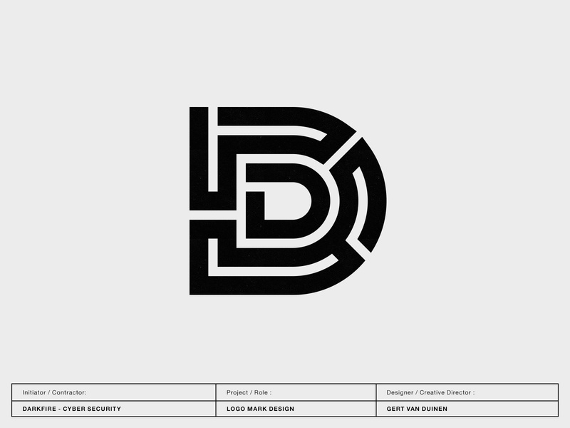 Darkfire Cyber Security letter custom letter custom lettering typography monogram custom logo design symbol designer branding identity identity designer mark brandmark logo designer logo design logo
