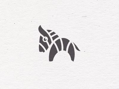 Zebra Cuteness animal zebra logo logomark brandmark icon