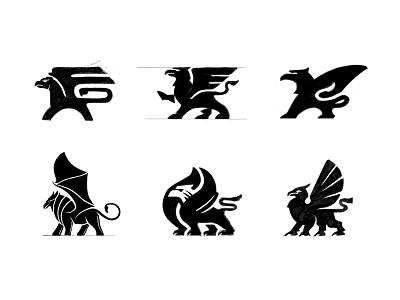 Griffin Sketches process sketches brand identity griffin custom logo design symbol designer branding identity identity designer mark brandmark logo designer logo design logo